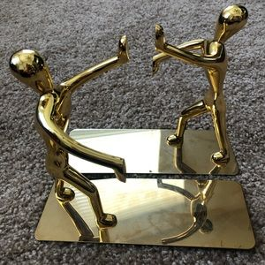 Brand new gold figurine bookends